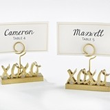 Kate Aspen XOXO Gold Place Card Holders (Set of 6)