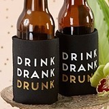 """Drink Drank Drunk"" Insulated Drink Sleeves (Set of 4)"