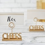 Kast Aspen 'Cheers to You' Gold Place Card Holders (Set of 6)