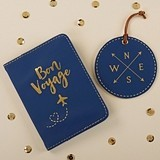 Kate Aspen Bon Voyage Getaway Gift Set w/ Passport Cover & Luggage Tag