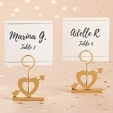Kate Aspen Cupid's Arrow Gold Place Card Holders (Set of 6)