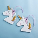 Kate Aspen Unicorn with Rainbow-Colored Mane Silicone Luggage Tag