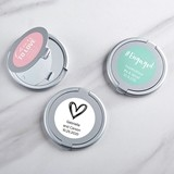 Kate Aspen Personalized Silver-Finish Compact Mirror - Wedding