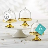 Personalized Small Bell Jar with Gold Base - Monogram (Set of 12)