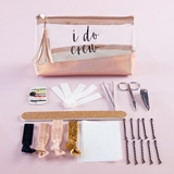 "Kate Aspen ""I Do Crew"" Clear & Rose Gold Bag Survival Kit"