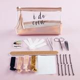 """Kate Aspen """"I Do Crew"""" Clear & Rose Gold Bag Survival Kit"""