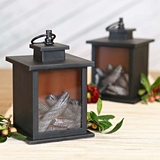 Kate Aspen LED Vintage 'Tokyo' Decorative Black Lanterns (Set of 2)