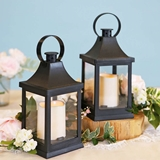 Kate Aspen LED Vintage 'Shanghai' Decorative Black Lanterns (Set of 2)