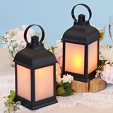 Kate Aspen LED Vintage Marrakesh Decorative Black Lanterns (Set of 2)