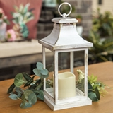 Kate Aspen LED Vintage-Look 'Hampton' Decorative Ivory-Colored Lantern