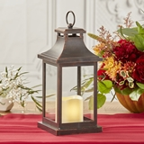 Kate Aspen LED Vintage-Look 'Hampton' Decorative Copper Lantern
