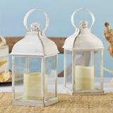 Kate Aspen LED Vintage Marrakesh Decorative White Lanterns (Set of 2)