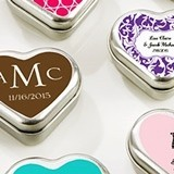 Kate Aspen Personalized Heart-Shaped Mint Tins (Monogram Designs)