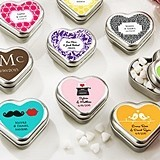 Kate Aspen Personalized Heart-Shaped Mint Tins (Wedding Designs)