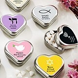 Kate Aspen Personalized Heart-Shaped Mint Tins (Religious Designs)