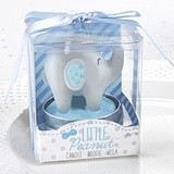Kate Aspen Blue 'Little Peanut' Elephant-Shaped Candle (Set of 4)