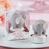 Kate Aspen Pink 'Little Peanut' Elephant-Shaped Candle (Set of 4)