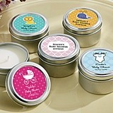 Kate Aspen Cute Personalized Baby Shower Miniature Candle Tins