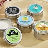 Kate Aspen Personalized Miniature Candle Tins (Birthday Designs)