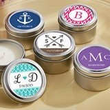 Kate Aspen Personalized Miniature Candle Tins (Monogram Designs)
