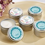 Kate Aspen Personalized Miniature Candle Tins (Boho Chic Designs)