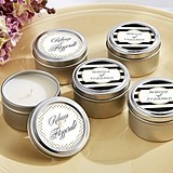 Kate Aspen Classic Collection Personalized Miniature Candle Tins