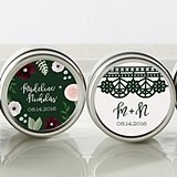 Kate Aspen Romantic Garden Designs Personalized Miniature Candle Tins