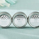Kate Aspen Personalized Travel Candle Tins with Silver Foil Designs
