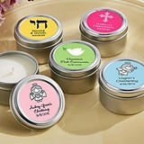 Kate Aspen Personalized Miniature Candle Tins (Religious Designs)
