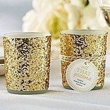 All That Glitters Gold Glitter Votive/Tealight Holder (Set of 4)