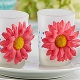 """Daisy Delight"" Gerbera Daisy Tealight Holder (Set of 4)"