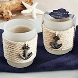 "Kate Aspen ""Anchors Away"" Rope Tealight Holders (Set of 4)"