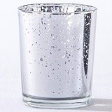 Kate Aspen Silver-Colored Mercury Glass Tealight Holders (Set of 4)