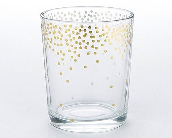 Kate Aspen Gold-Foil Dot Pattern Tea Light Holders (Set of 4)