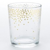 Kate Aspen Gold-Foil Dot Pattern Tea Light Holders (Set of 4)