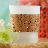 Gold Glitz Cork-Wrapped 'Tropical Chic' Tealight Holders (Set of 4)