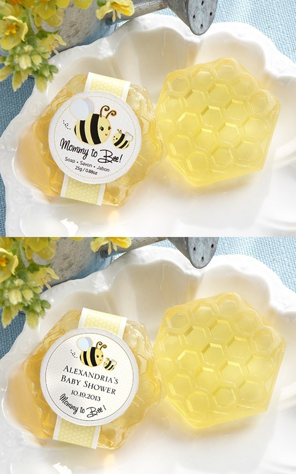 Kate Aspen Adorable Personalized Honeycomb Shaped Baby Shower Soaps