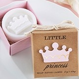 """Little Princess"" Soap in Kraft Box with Light Pink Crown"