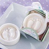 "Adorable ""Pitter Patter"" Baby Footprints Motif Soap"