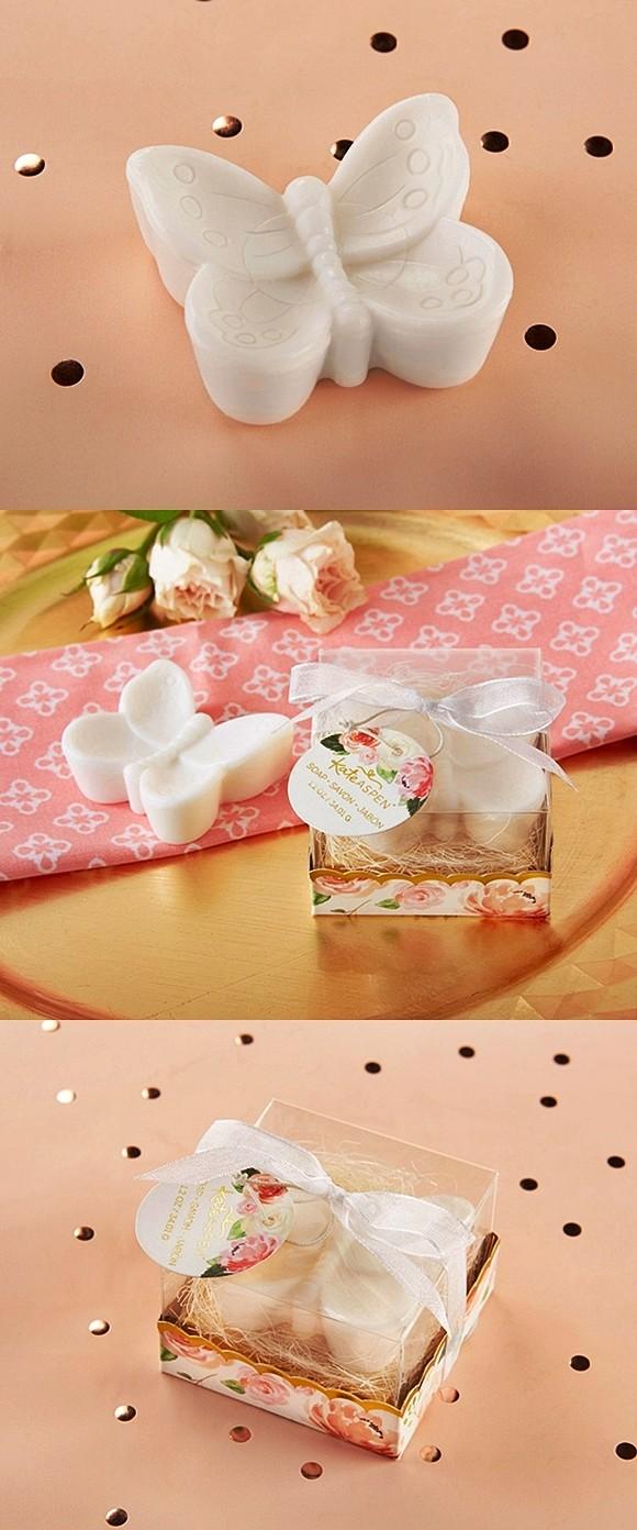 kate aspen butterfly soap in designer flower themed gift box
