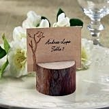 Kate Aspen Rustic Real-Wood Place Card/Photo Holder (Set of 4)