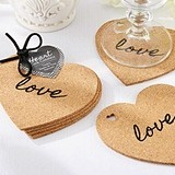 Love Design Heart-Shaped Cork Coasters (Set of 4)