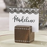 Kate Aspen 'Romantic Garden' Wood Cube Place Card Holder (Set of 6)