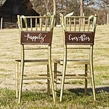 Kate Aspen Wanderlust Script 'Happily Ever After' Chair Signs