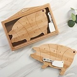 Kate Aspen Farmhouse Collection Pig Cheeseboard Gift Set