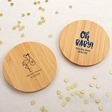 Kate Aspen Personalized Bamboo-Wood Coasters - Baby Shower (Set of 12)