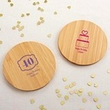 Kate Aspen Personalized Bamboo-Wood Coasters - Birthday (Set of 12)