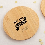 Kate Aspen Personalized Bamboo-Wood Coasters - Celebration (Set of 12)