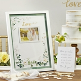 Kate Aspen Botanical Garden Wedding Guest Book Alternative with Hearts