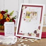 Kate Aspen 'Burgundy Blush' Floral-Themed Guest Book Alternative